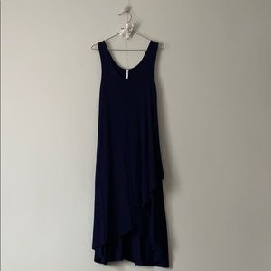 Gilmour navy midi dress